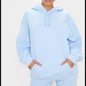 Baby blue oversized hoodie